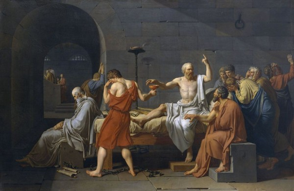 Jacques-Louis David: Tod des Sokrates (1787 n. Chr.)